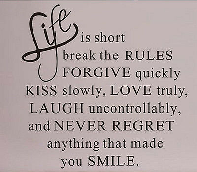 Life Is Short Love Quote Removable DIY Wall Sticker Vinyl Decal Home Decor 1X