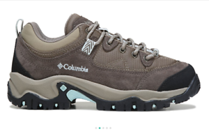 New COLUMBIA Womens Walking Hiking shoes Low Ankle Trail Boots Leather Sneakers