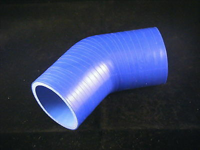 Durite Coude Silicone 45° degrés 51 mm 51mm 3 plis 50x50mm BLEU Neuf Tuning