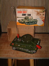 "VINTAGE NOMURA B/O, FULLY OPERATIONAL ""STICK SHIFT ARMY TANK"" COMPLETE W/BOX!!"