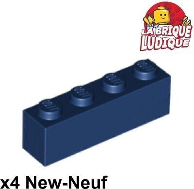 LEGO LOT 40 X BRIQUE 1X4 EARTH BLUE BLEU FONCÉ REF 3010 *NEUF*