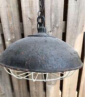 RETRO RUSTIK LOFTLAMPE, STOR FED INDUSTRIAL LAMPE