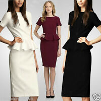 New Women's Sexy Celebrity Style Shift Casual LLD Bodycon Dress UK size 8-16