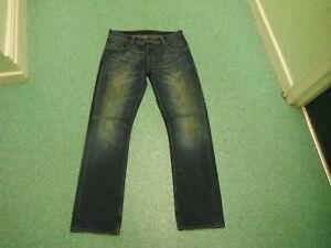 Fiertrap-Gen-Rom-Straight-Jeans-Waist-34-034-Leg-34-034-Faded-Dark-Blue-Mens-Jeans