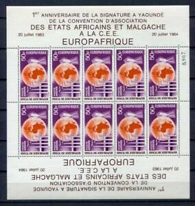 29716) DEALER STOCK TCHAD 1964  MNH** Europa Afrique MS (X9 MS)