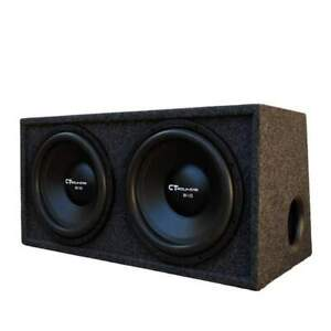 CT Sounds Dual Bio 10 inch Car Subwoofer Bass Pack 600W Factory Tuned Ported Box