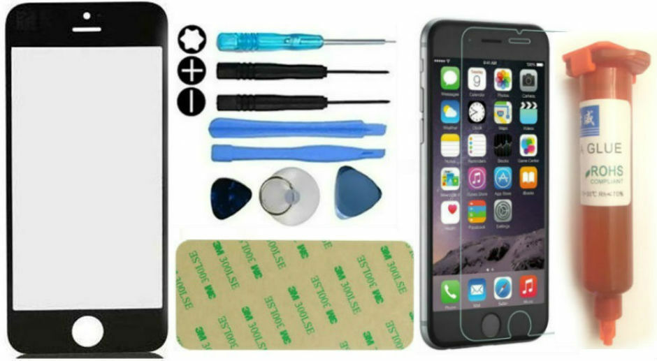 front outer glass screen replacement repair kit for iphone. Black Bedroom Furniture Sets. Home Design Ideas