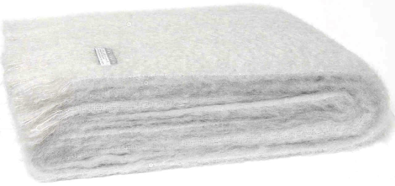 Masterweave Windermere Mohair Knee Wrap Throw Blanket in Silber