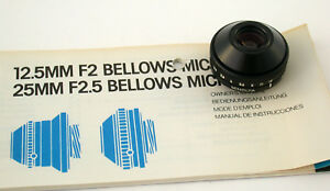 MINOLTA-bellows-micro-2-5-25-25-25mm-F2-5-2-5-lens-Objektiv-Lupen-loupe-RMS
