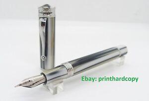 Brand-New-Montegrappa-Ducale-Sabbia-Fountain-Pen-Silver-Trim