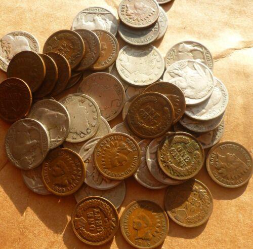 Indian Head Penny  Buffalo Nickel  Liberty V Nickel Collection 36 Coins.