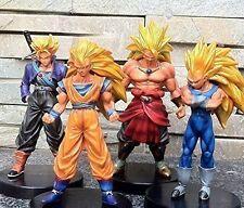 """Dragon Ball Z Super Saiyan 4x 5"""" Action Figures Set Goku Broly -NEW"""