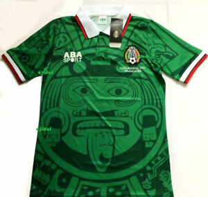 0492aaeefca New ABA SPORT Mexico 1998 Jersey XL RETRO France NO NAME shirt Home ...