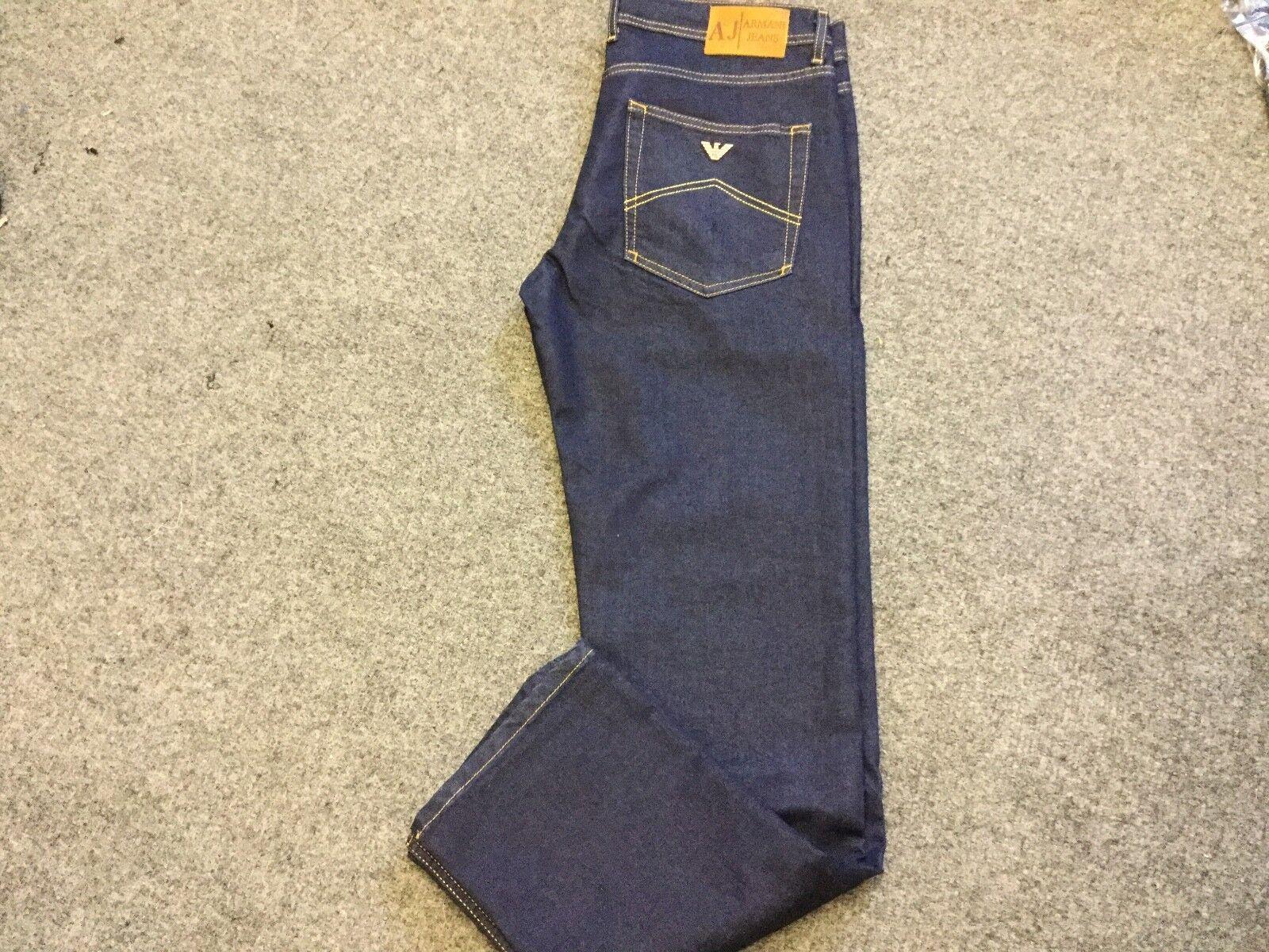 Armani men's J45 dark denim jeans 34 32 bnwt