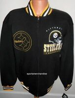 Pittsburgh Steelers Hard Knock Fleece Jacket Adult Xxl Free Shipping