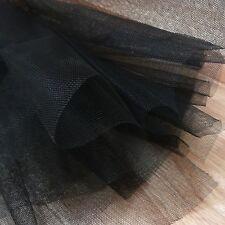 Schwarz Fein Tüll stoff 300cm breit von der M netz für absclussabend,schleier,