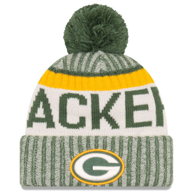 29015097839 Era Green Bay Packers Knit Beanie Cap Hat NFL on Field Sideline 11460398