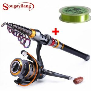 Sougayilang-1-8-3-6m-Telescopic-Fishing-Rod-and-11BB-Fishing-Reel-Wheel