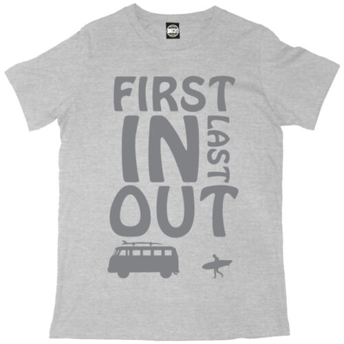 FIRST IN LAST OUT MENS PRINTED BRITISH SUMMER SURF T-SHIRT