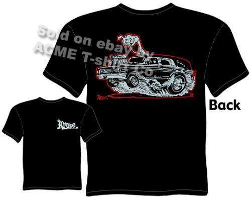 Hot Rod Hearse T Shirts Kustom Kulture Clothes Racing Tee Sz M L XL 2XL 3XL