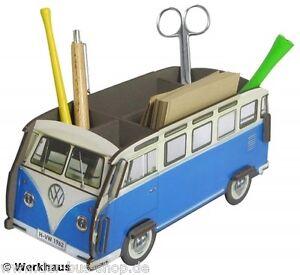 VW-Bus-T1-Stiftbox-Ordnungsbox-Samba-Blau-NEU