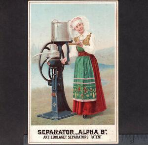 Delaval Séparateur 1893 Dairy Milk Maid Crème Chicago Foire Mondiale Publicité Carte-afficher Le Titre D'origine 7ub1fl7q-08000813-676851188