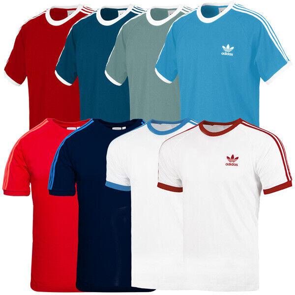 100% QualitäT Adidas 3-stripes Tee Men Herren Originals T-shirt Freizeit Short Sleeve Shirt Eine Lange Historische Stellung Haben