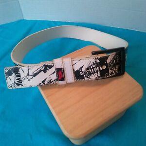 "Tony Hawk 30""  belt  ""SKULLS"" w/ removable buckle black and white"