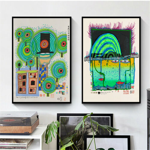 Fantasy Canvas Poster Abstract Green Children/'s Painting Art Wall Bedroom Decor