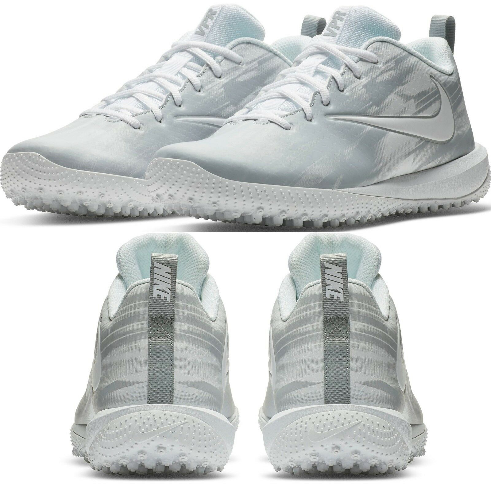 Nike Vapor Varsity Low Turf LAX Men's Lacrosse Cleat Comfy shoes White Wolf Grey