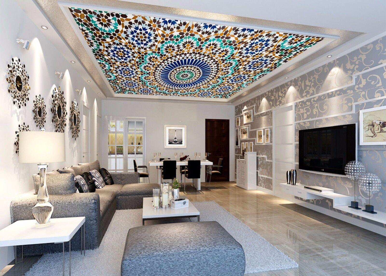 3D Dazzling  64 Ceiling WallPaper Murals Wall Print Decal Deco AJ WALLPAPER UK
