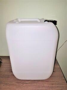 4 x 35 Liter Plastikkanister Kunststoffkanister Natur//Weiß sehr guten Zustand