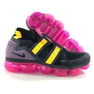 Nike-Air-Vapormax-FK-Flyknit-Utility-Black-Grey-Yellow-AH6834-006-Men-039-s-15