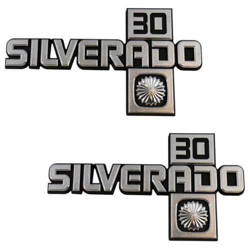 1981-88 Chevrolet Truck Silverado 30 Fender Emblem Set