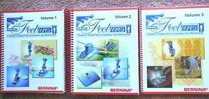 3-NEW-Bernina-FEETURES-Books-amp-Guide-to-Pressor-Feet-Accessories-amp-Attachments