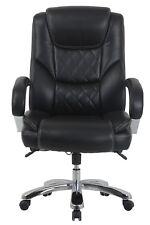 Vinmax Bigamp Tall High Back Executive Chair Heavy Duty Chrome Metal Armrests Bl