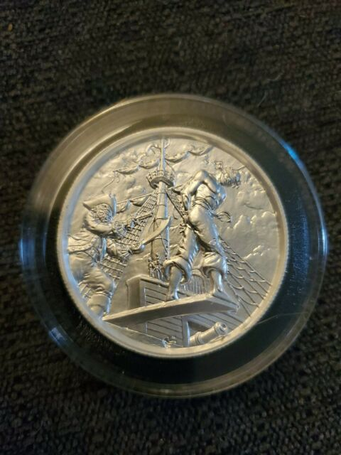2nd In The Privateer Series. Siren 2oz .999 Silver Ultra High Relief Round