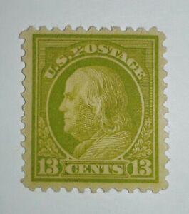 Travelstamps-1917-19-US-Stamps-Scott-513-13cents-apple-green-MOGLH-mint-og-lh