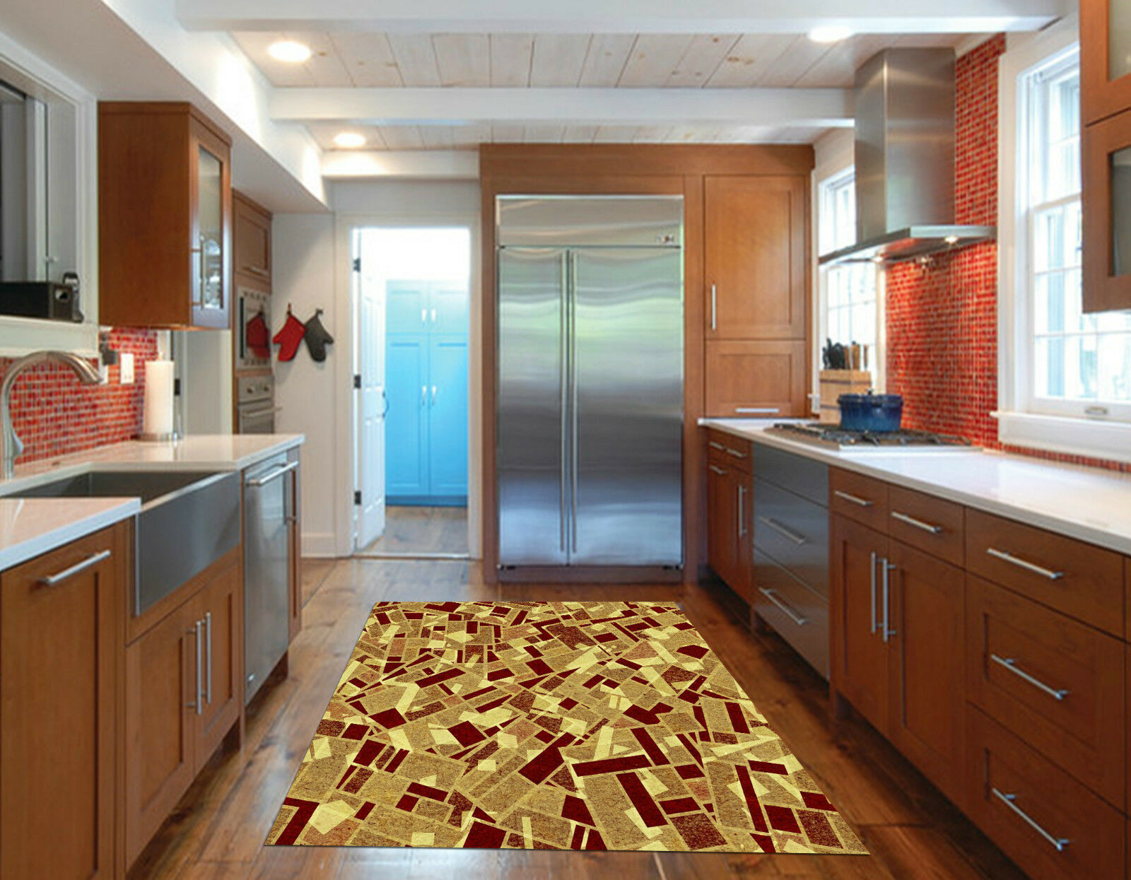 3D Stylish Pattern Kitchen Mat Floor Mural Wall Print Wall Deco AJ WALLPAPER CA