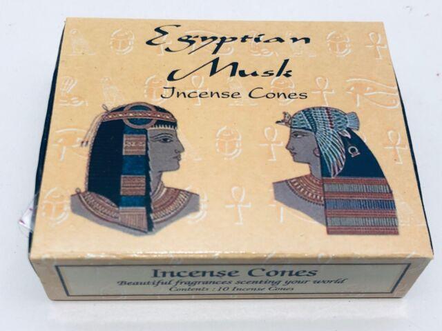 Egyptian Musk Incense Cones x 150 cones (HANDMADE) KAMINI