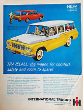 1961 International Trucks Yellow White and Red Station Wagon Cars Color Ad