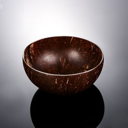 Coconut Shell Bowl Natural Handmade Spoon Eco Friendly Wood Set Decor 2 Home Fru