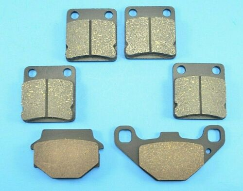 Brake Pads For Suzuki 500 LTA500 LT-A500 Vinson Front /& Rear Brakes 2003-2007