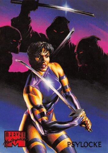1995 Marvel Masterpieces Fleer Base Trading Card #76 PSYLOCKE
