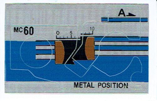G1 Decepticon accanimento REPRO Etichette//Adesivi Transformers GENERATION 1