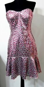 ALYCE-6-Dress-Silver-Pink-Sequins-Leopard-Cocktail-Party-Formal-Evening-Wear