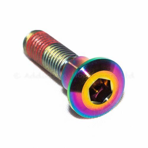 5x Rainbow Titanium Rear Disc Rotor Bolts Screws for Suzuki Gsxr1000 K1 K2