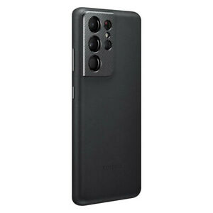 Original-Samsung-Leather-Cover-Case-Huelle-EF-VG998-fuer-Galaxy-S21-Ultra-Schwarz
