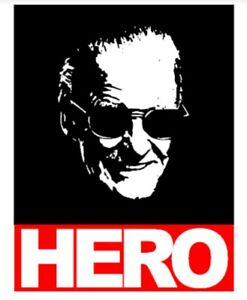 STAN-LEE-HERO-Style-Adult-T-Shirt-Black-White-or-Grey-MARVEL-LEGEND