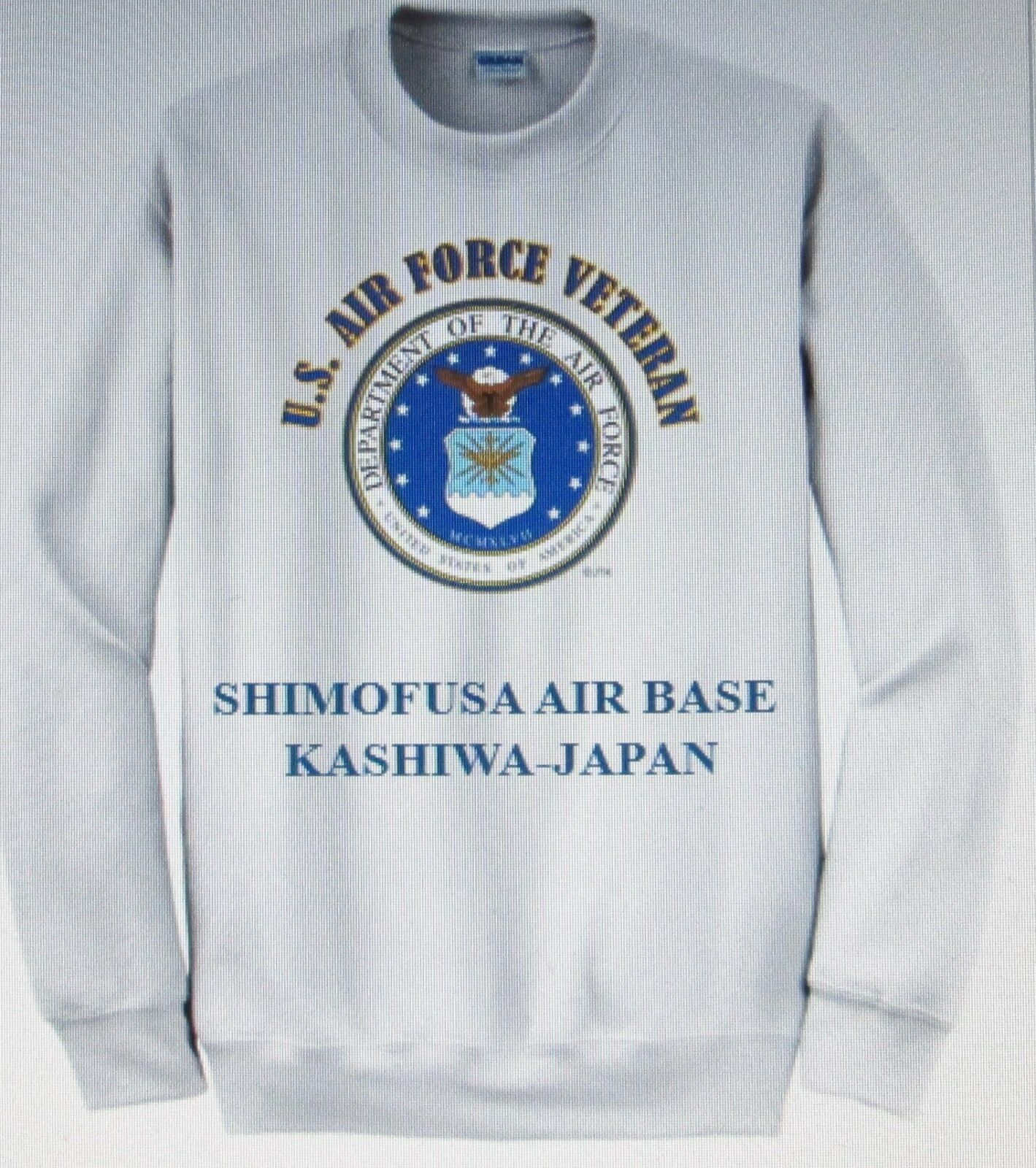 SHIMOFUSA  AIR BASE  KASHIWA-JAPAN  AIR FORCE EMBLEM VETERAN SWEATSHIRT